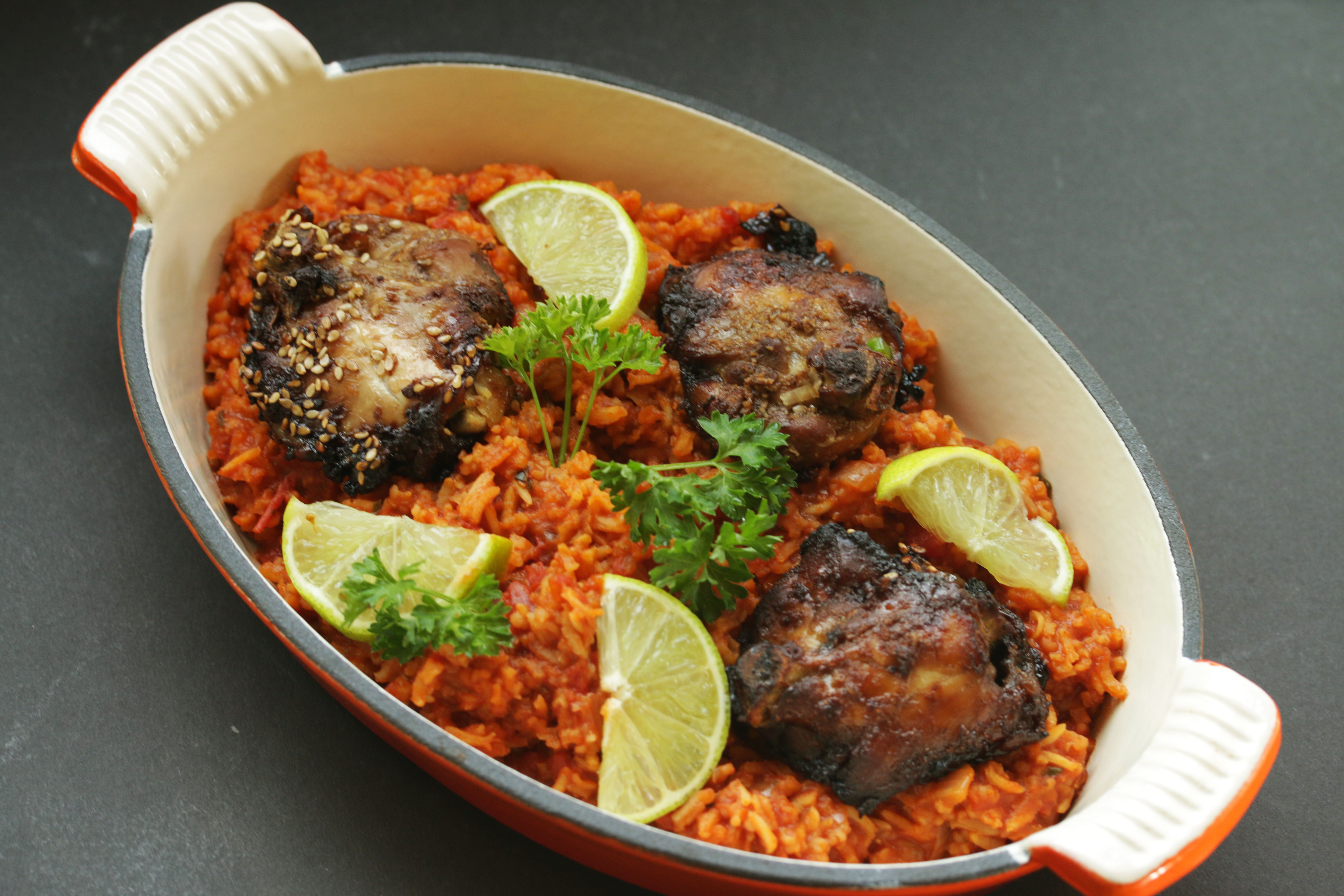 Ghanaian jollof rice with pomegranates foods from africa ghanaian jollof rice forumfinder Gallery