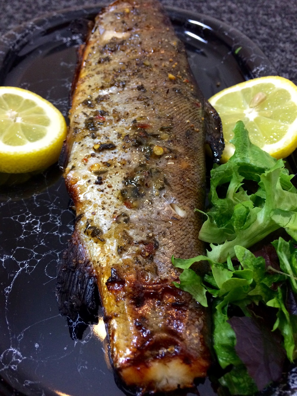 Honey & Thyme Whole Grilled Trout Recipe | Foods From Africa