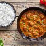This Coconut Curryis easy to make and flavoursome with lots of Indian spices. The peanut butter and coconut milk give it a creamy texture and wonderful flavour.