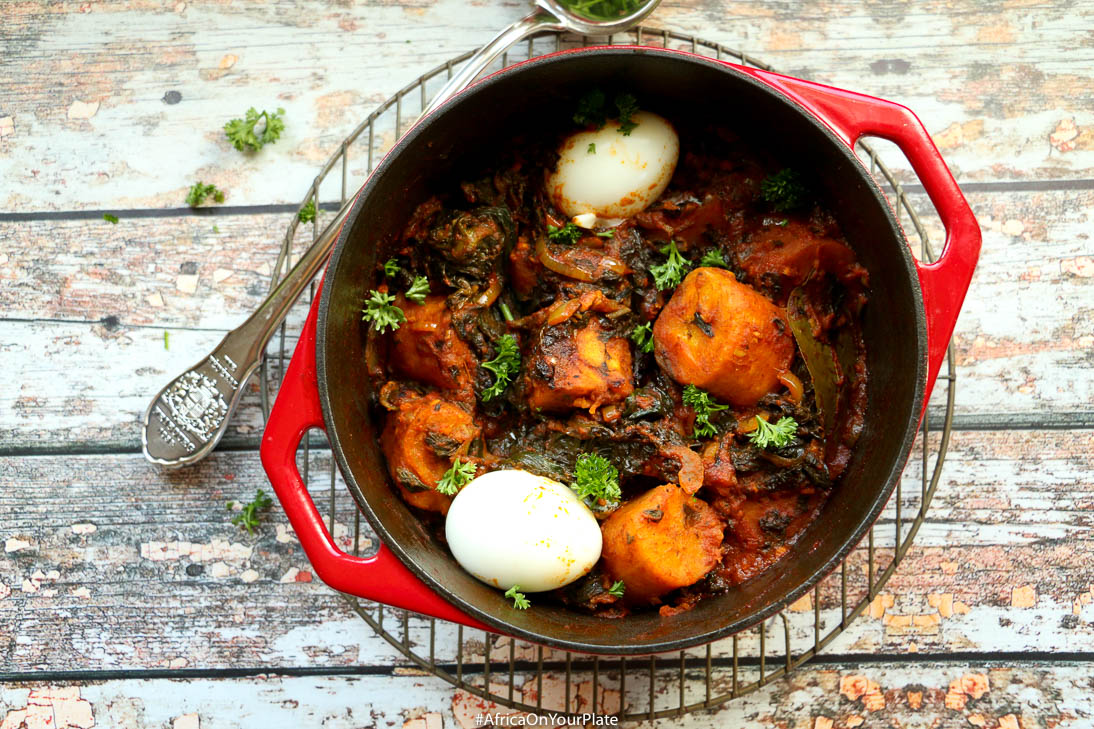 one-pot-berbere-plantain-spinach-stew