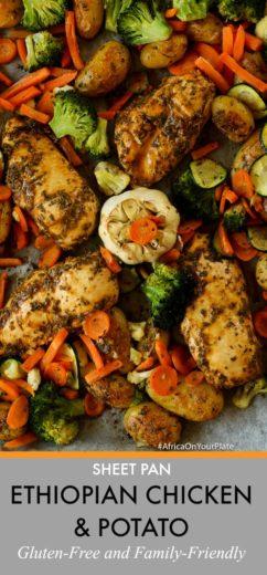 sheet pan ethiopian dinner