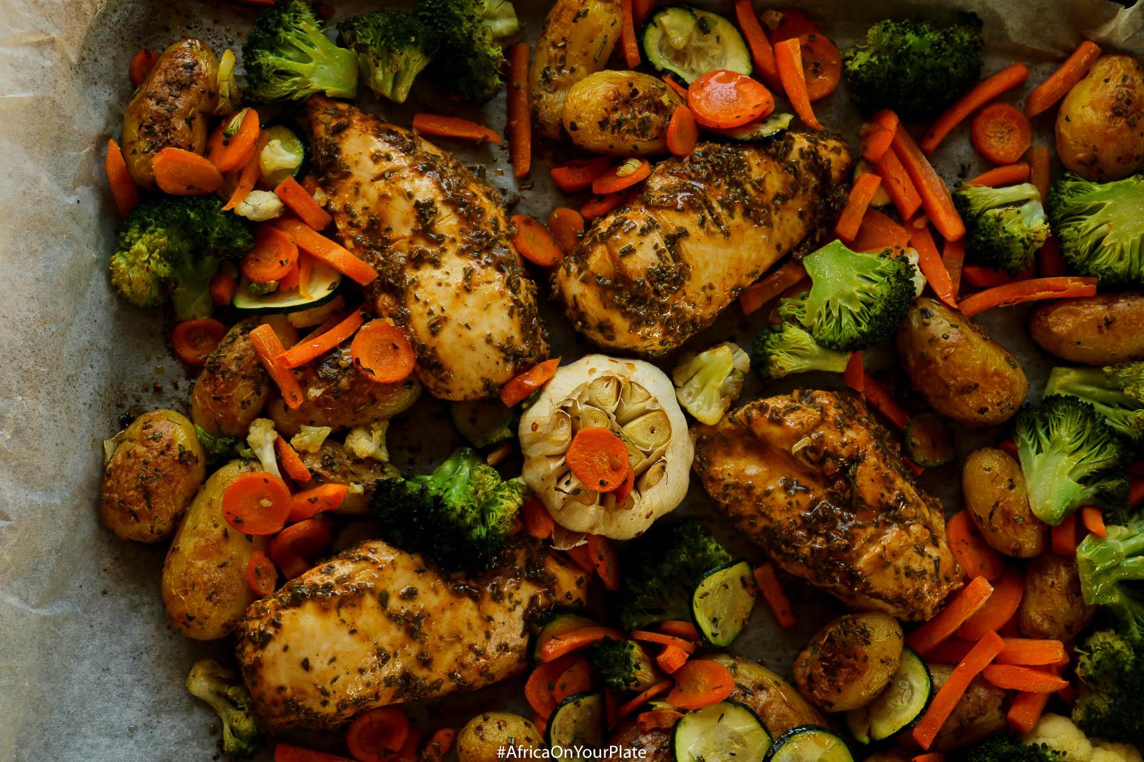 sheet pan ethiopian chicken and potatoes-4