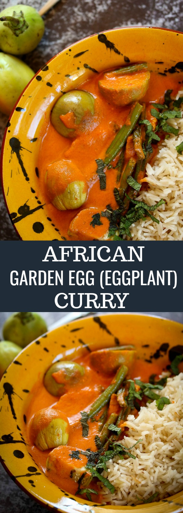 A Vegan and Gluten-Free African Garden Egg (Eggplant) is Simmered in a Creamy Coconut Sauce for a Quick and Healthy Weekday Dinner