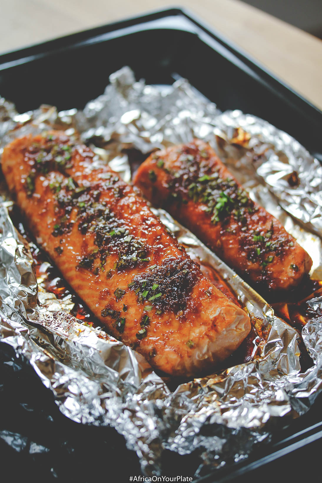 Baked Honey and Blond-Orange Glazed Salmon