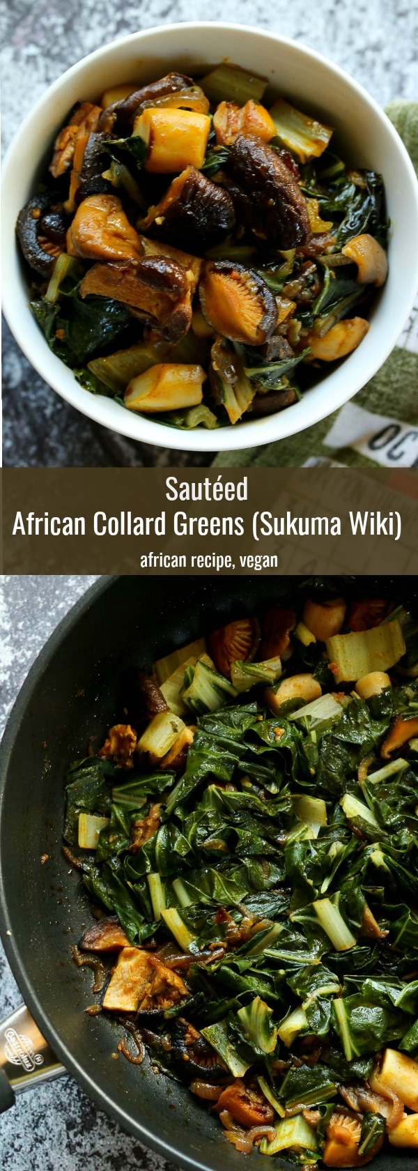 African Collard Greens and Mediterranean Swiss Chard come together in this flavoursome East African recipe. Vegan, Gluten-Free and packed with exotic flavours and goodness.