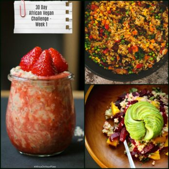 african vegan challenge-week one